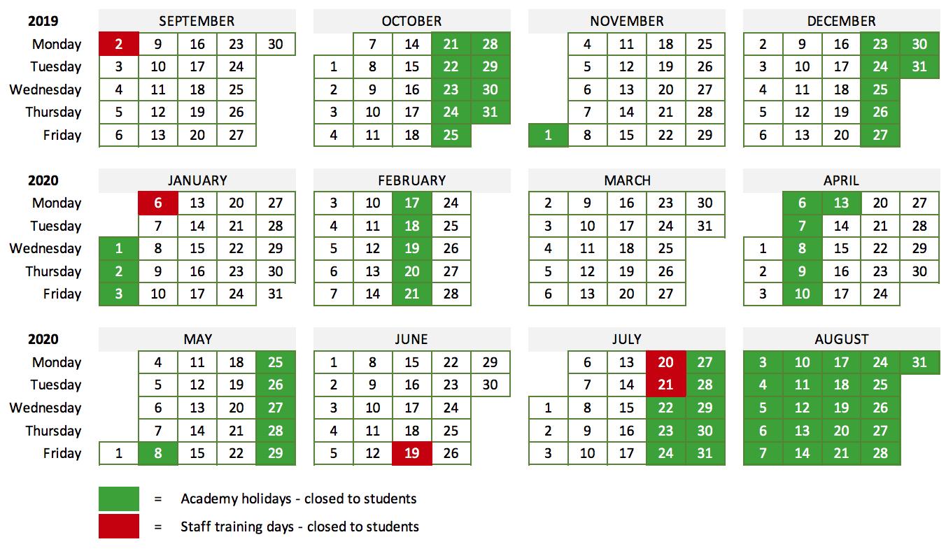 Term dates 2019/2020